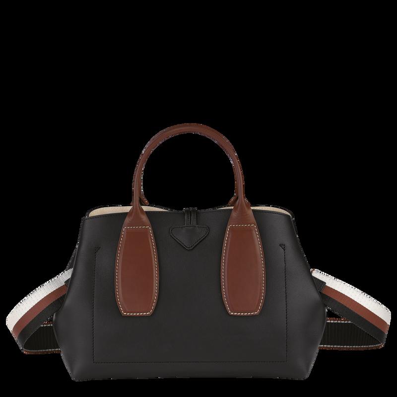 Roseau Top handle bag M, Black