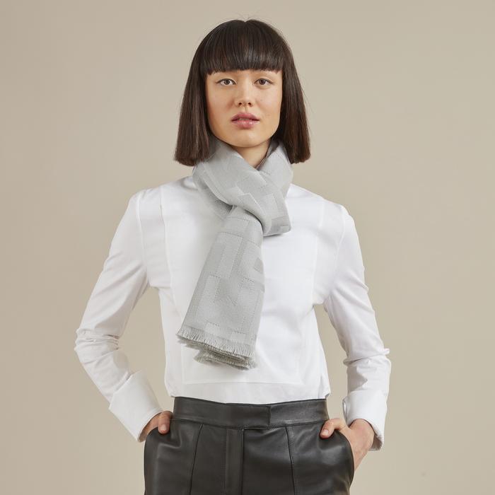 2021 春夏系列 絲質圍巾, 粉白色