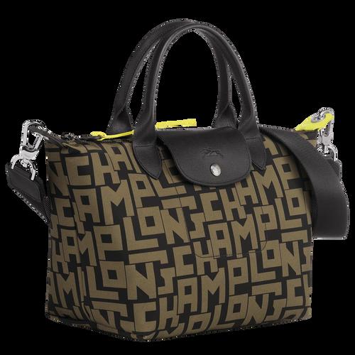 Top handle bag, Black/Khaki, hi-res - View 2 of 3