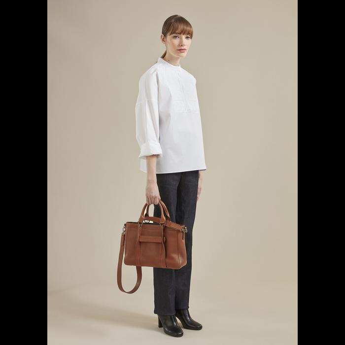 Longchamp 3D Top handle bag S, Ivory