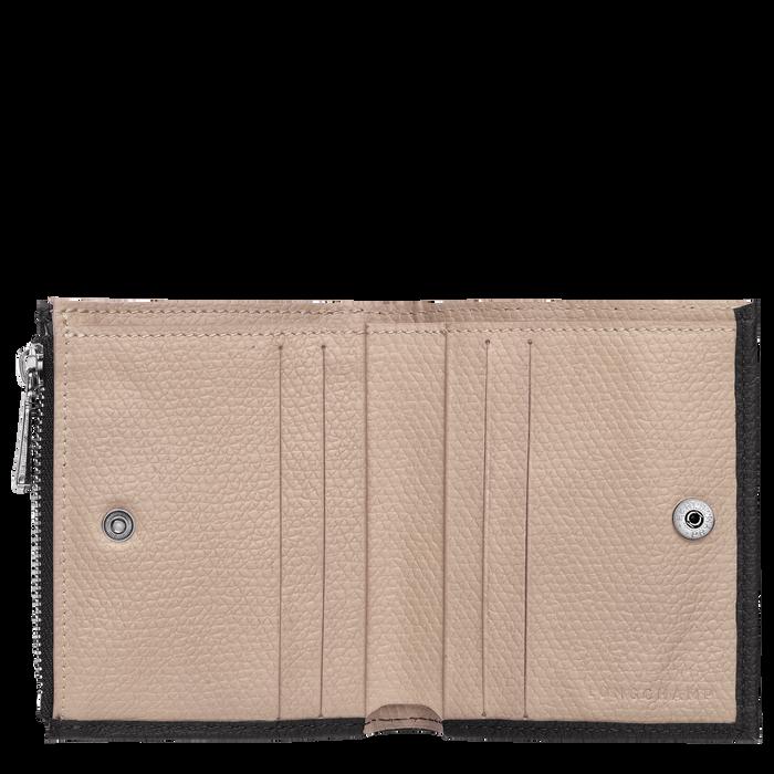 컴팩트 지갑, 블랙 / 에보니 - 2 이미지 보기 2 - 확대하기