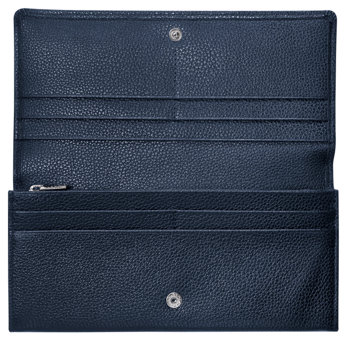 Long continental wallet, Navy - View 2 of  2 - zoom in