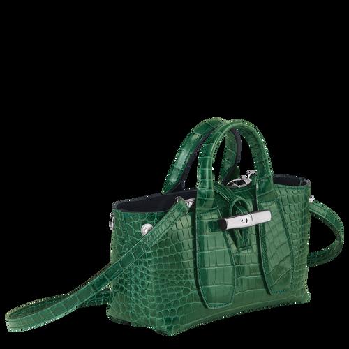Top handle bag XS, Green havana - View 3 of  4 -