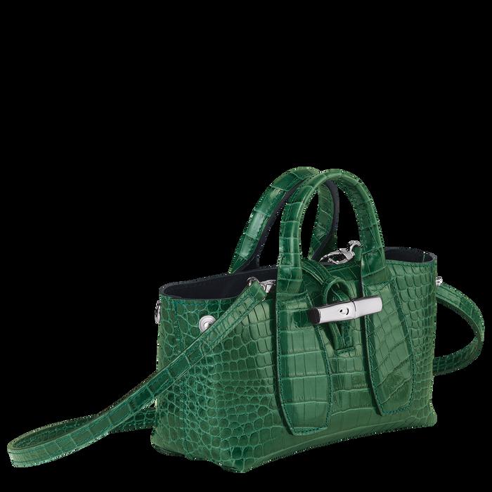 Top handle bag XS, Green havana - View 3 of  4 - zoom in
