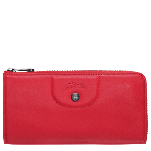 Le Pliage Cuir Long wallet with zip around, Red