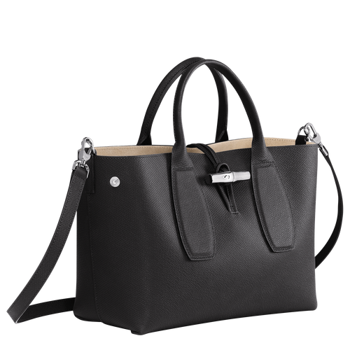View 3 of Top handle bag M, Black, hi-res