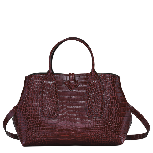 Top handle bag M, Burgundy - View 4 of  4 -