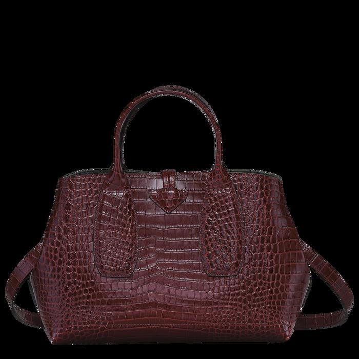 Top handle bag M, Burgundy - View 4 of  4 - zoom in