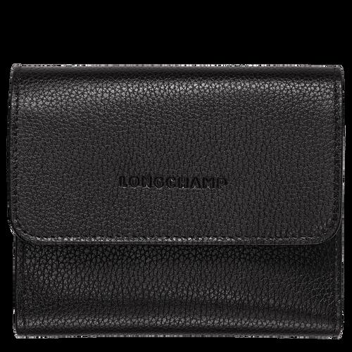 Vue 1 de Portefeuille compact, Noir, hi-res