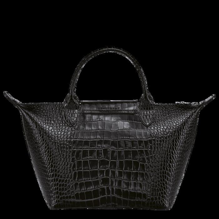 Le Pliage Cuir Top handle bag S, Black