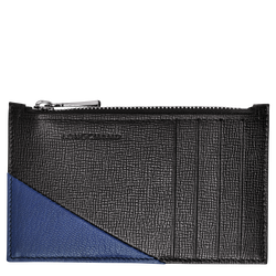 Coin purse, 731 Black/Blue, hi-res