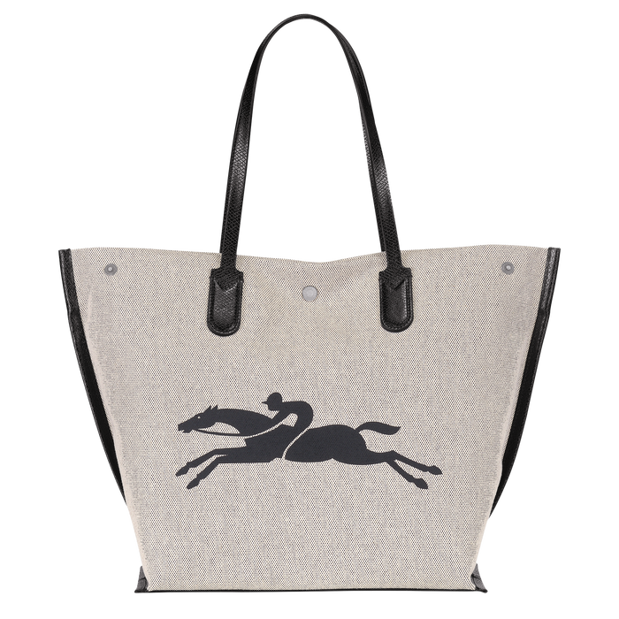 Roseau Shopping bag L, Ecru
