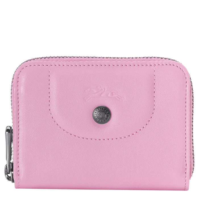 Zipped card holder, Pink, hi-res - View 1 of 2