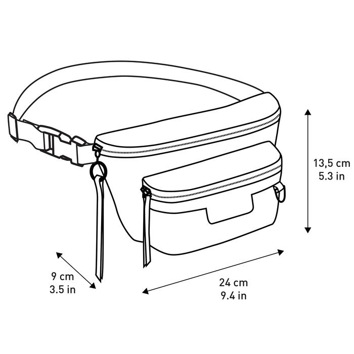 Belt bag M, Black/Ebony - View 3 of 3 - zoom in