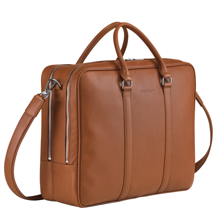 Briefcase L, Caramel - View 2 of  3 - zoom in