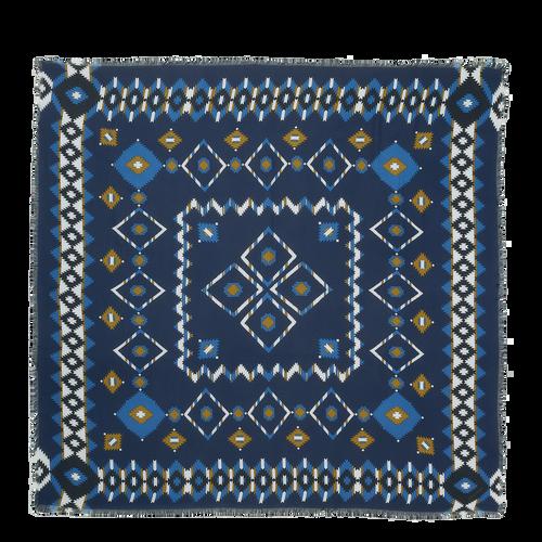 Vue 1 de Châle, Bleu, hi-res