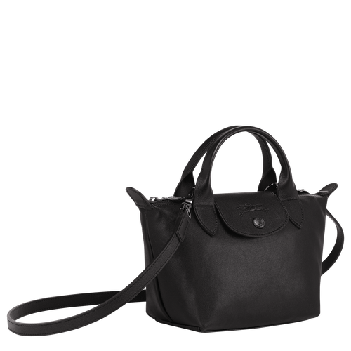 Top handle bag XS Le Pliage Cuir Black (L1500757001) | Longchamp US