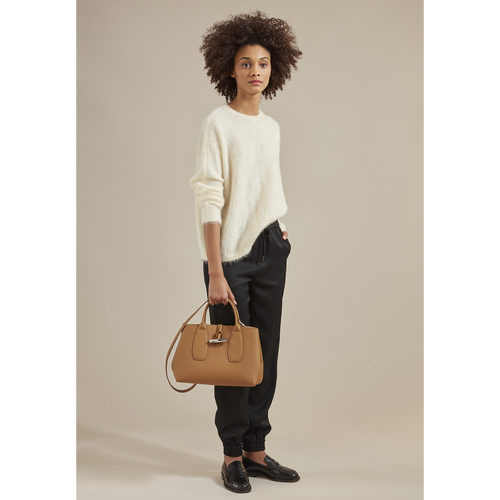 Roseau Top handle bag M, Natural