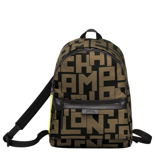 Backpack M, Black/Khaki, hi-res - View 1 of 3
