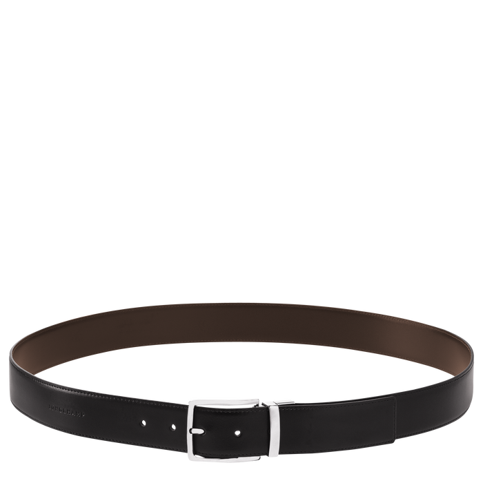 Delta Box Men's belt, Black/Mocha