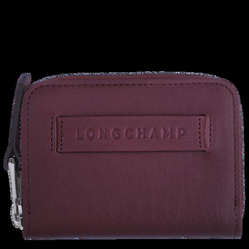 Longchamp 3D Zipped card holder, Grape