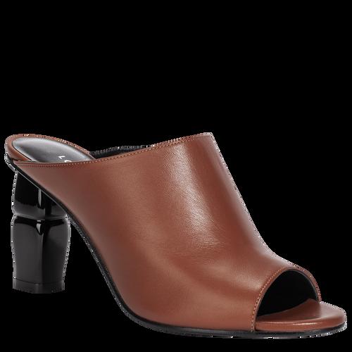 High-heel mules, Cognac, hi-res - View 2 of 2