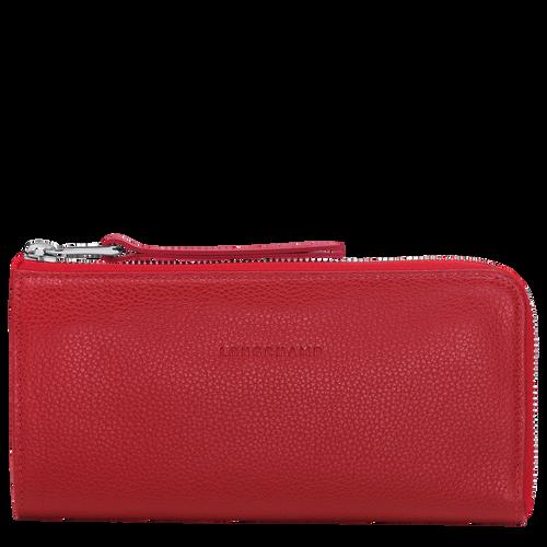 View 1 of Langformat Brieftasche mit Reissverschluss, Mahagoni, hi-res