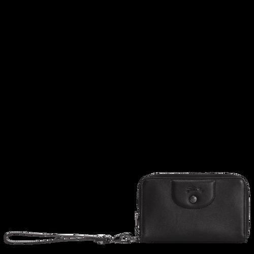 Brieftasche im Kompaktformat, Schwarz/Ebenholz - Ansicht 1 von 2 -