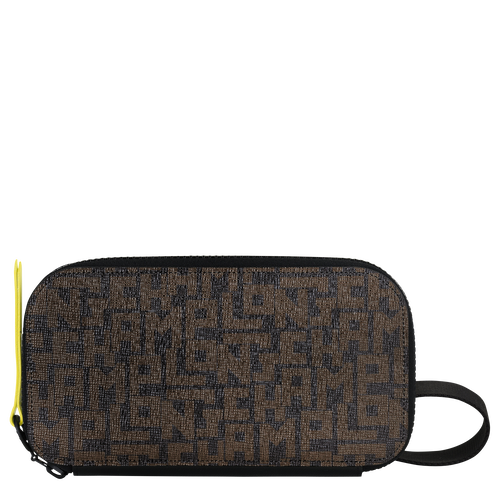 Portefeuille long zippé, Noir/Kaki, hi-res - Vue 1 de 2