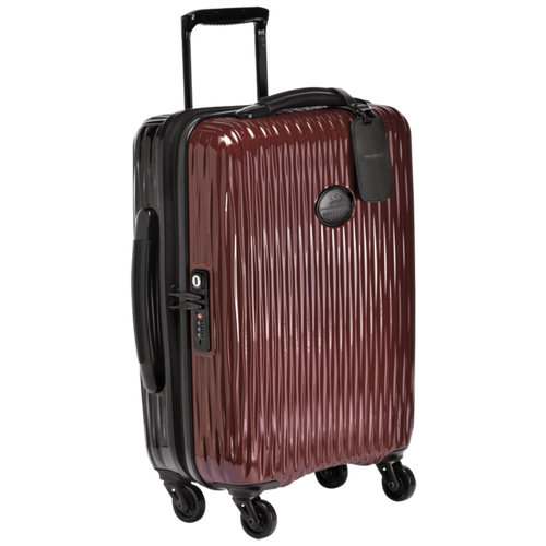 Small wheeled suitcase, Black/Red lacquer, hi-res - View 2 of 3
