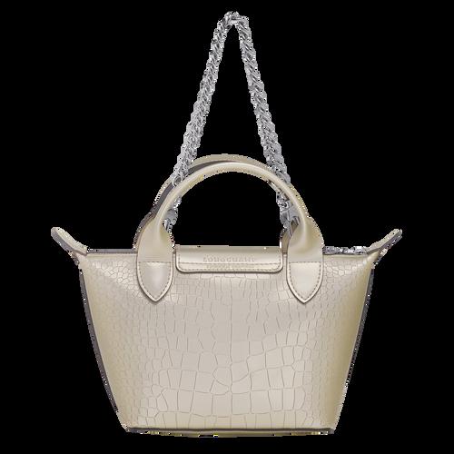 Mini top-handle bag, Platinum, hi-res - View 3 of 3