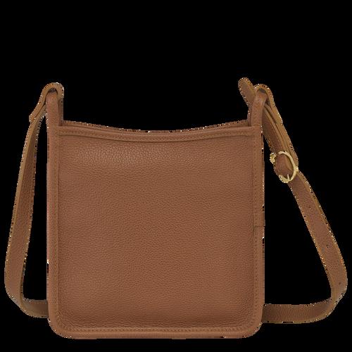 Le Foulonné Zipped crossbody bag S, Caramel