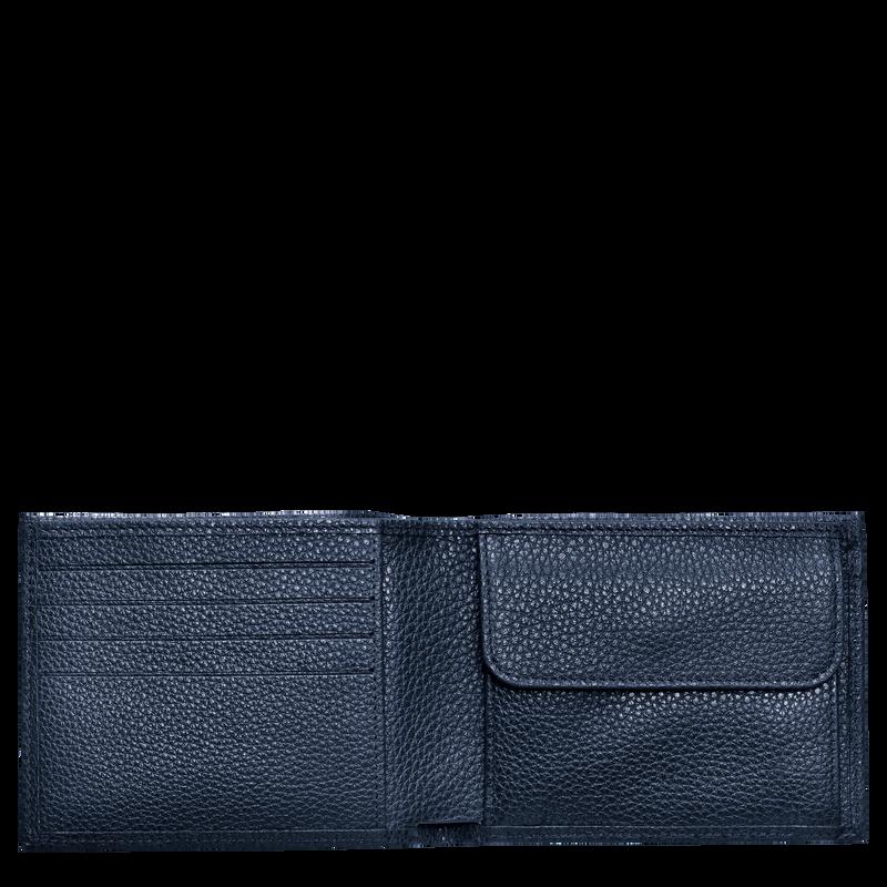 Le Foulonné Wallet, Navy
