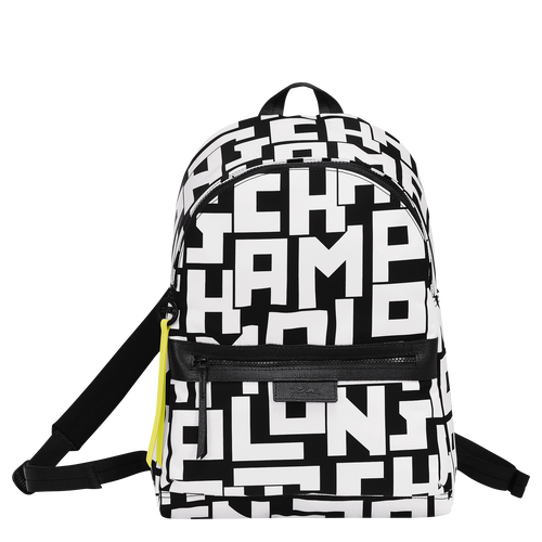 Backpack M, Black/White, hi-res - View 1 of 4