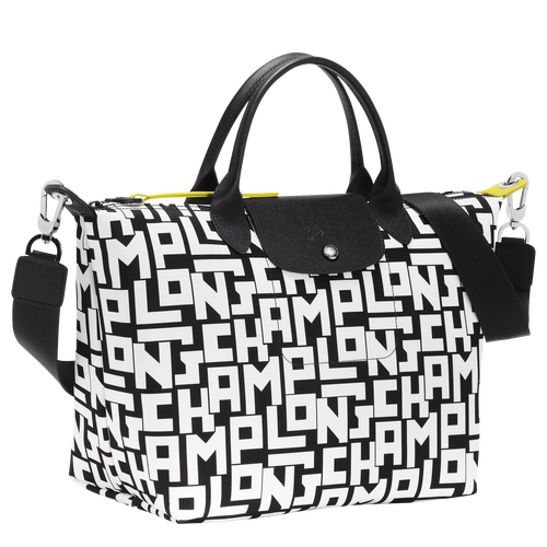 Top handle bag M, Black/White - View 2 of 4 -