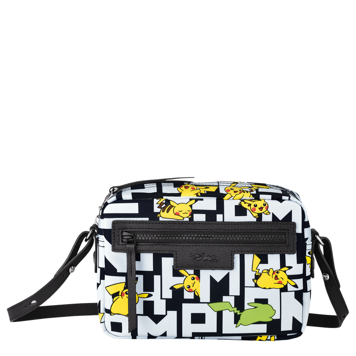 Crossbody bag, Black/White - View 1 of  3 - zoom in