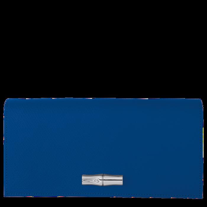Roseau Long continental wallet, Blue