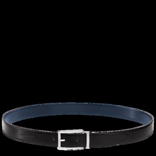 Men's belt, Black/Navy - View 2 of 3 -