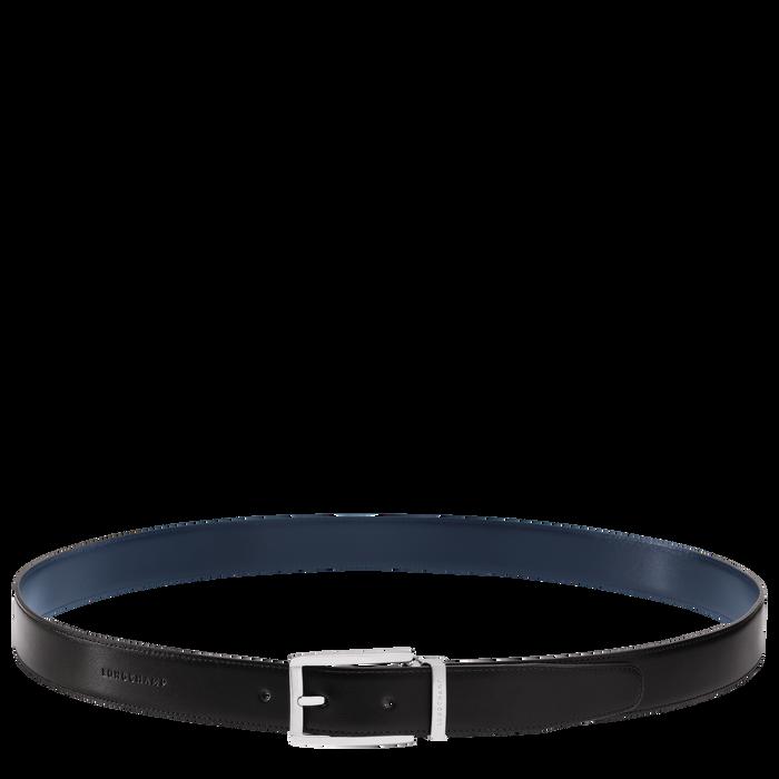 Men's belt, Black/Navy - View 2 of 3 - zoom in