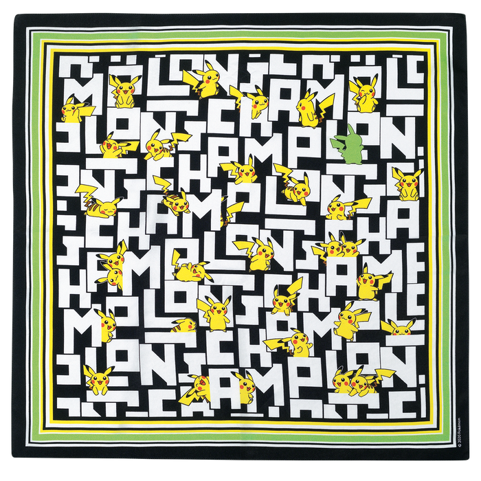 Silk scarf 50x50, Black/White - View 1 of  1 - zoom in