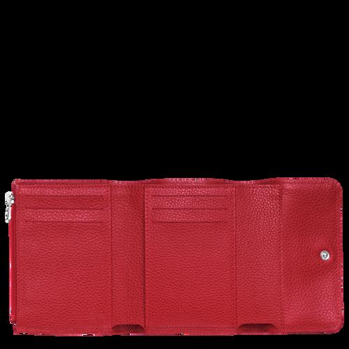 View 2 of Kompakt-Brieftasche, 608 Zinnoberrot, hi-res