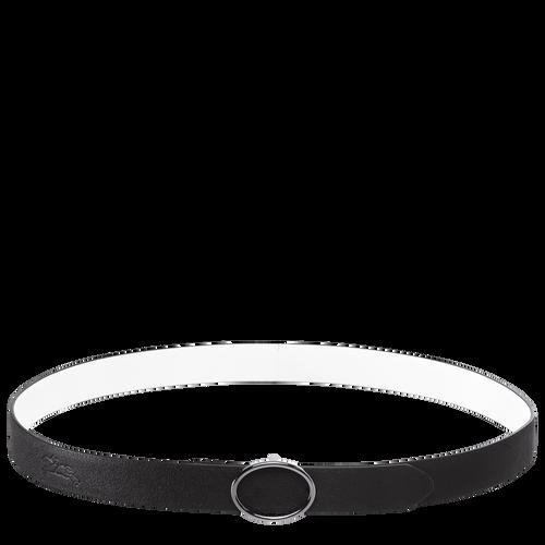 Ladies' belt, Black/White, hi-res - View 1 of 1
