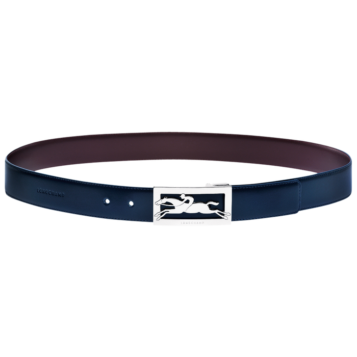 Men's belt, Navy/Burgundy - View 1 of  1 - zoom in