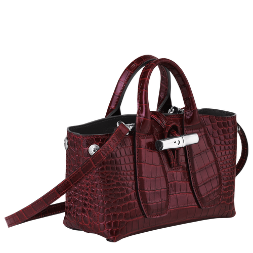 Top handle bag XS, Burgundy - View 3 of 4 -