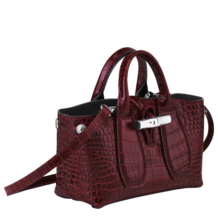 Top handle bag XS, Burgundy - View 3 of 4 - zoom in