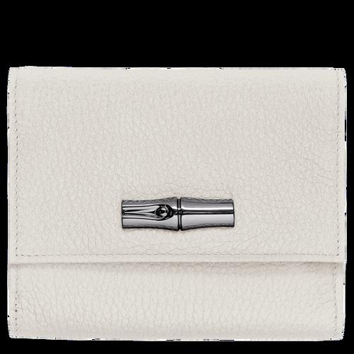 Portefeuille compact, Talc, hi-res - Vue 1 de 2