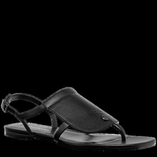 Flat sandals, Black/Ebony - View 2 of  3 -