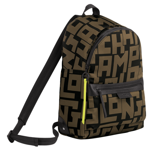 Backpack M, Black/Khaki, hi-res - View 2 of 3