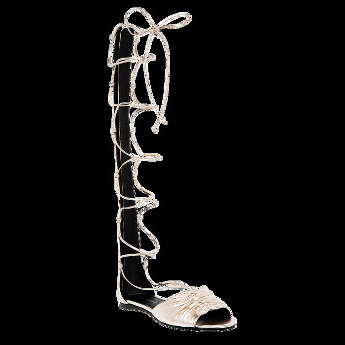 Flat sandals, Platinum, hi-res - View 2 of 2