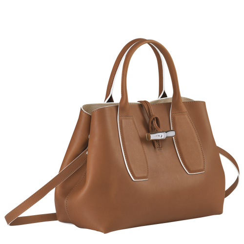 Top handle bag M, Cognac - View 3 of 5 -